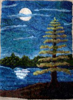 evergreen trees for rug hooking