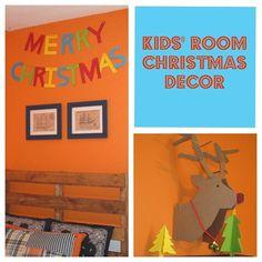 Cheerful Kid's Room Christmas Decor