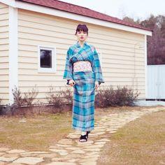 クールな浴衣スタイル。Laymee Mirada 浴衣 / Cotton kimono on ShopStyle