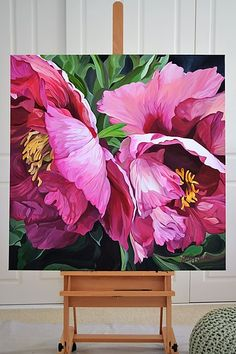 Illawarra Flame large format painting by Sydney artist Jenny Fusca Abstract Flowers, Watercolor Flowers, Watercolor Paintings, Floral Paintings, Oil Painting Flowers, Oil Paintings, Botanical Art, Painting Inspiration, Painting & Drawing