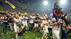 BOCA CAMPEON. Boca se consagró al derrotar 1 a 0 a Tigre en la Bombonera, con gol de Monzón. (Jorge Sanchez)