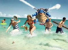 Pokemon Go: Blastoise by Hominid-9.deviantart.com on @DeviantArt