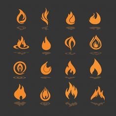 Discover thousands of copyright-free vectors. Graphic resources for personal and commercial use. Thousands of new files uploaded daily. Icon Design, Logo Design, Design Web, Flat Design, Flame Tattoos, Element Symbols, Flame Art, Avatar The Last Airbender Art, Grafiti