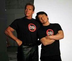 Arnold Schwarzenegger et Jackie Chan
