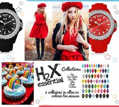 Rosso natalizio, accanto all'intramontabile nero per gli orologi H2X REEF LADY Clear Stones con cristalli naturali sulla ghiera...   e il mondo arcobaleno delle 6 collezioni di orologi made in Italy in silicone, pensati dai designer di Swan Co. per regalare ad ogni giorno un colore differente!