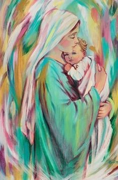 Blessed Mother Mary, Divine Mother, Blessed Virgin Mary, Jesus Mother, Baby Jesus, Mother Mary Images, Images Of Mary, Religious Icons, Religious Art