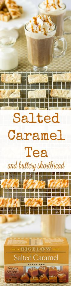 Bigelow's Salted Caramel Tea is sweet and fragrant with the scent of warm salted caramel. It's absolute perfection when served with buttery shortbread!