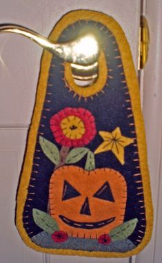 Penny Rug JACK O LANTERN Door Hanger INSTANT DOWNLOAD E Pattern