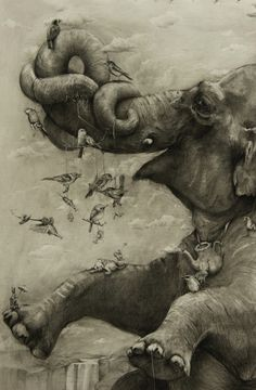 Enormous Painting Drawn Using Only Carbon Pencil | 123 Inspiration