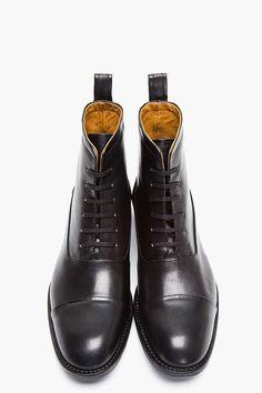 TIGER OF SWEDEN Black Leather Karl Boots
