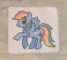 My Little Pony - Rainbow Dash Inspired PDF Cross Stitch Pattern. $3,00, via Etsy.