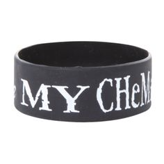 My Chemical Romance Rubber Bracelet | Hot Topic (105 ZAR) ❤ liked on Polyvore featuring jewelry, bracelets, accessories, rubber bracelets, my chemical romance, rubber bangles and rubber jewelry