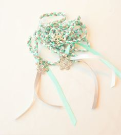 Frozen  Rhinestone Snowflake  Wedding Hand by DivinityBraid