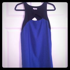 Urban outfitters color block dress Black and blue color-block and cut out dress. Perfect go to. Perfect condition. silence + noise Dresses Mini