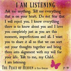 God is listening! 10/27/2016
