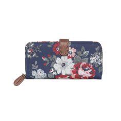 daa38971291 Cath Kidston Global wallet - Pembridge rose blue Cath Kidston Purse, Purse  Wallet, Zip