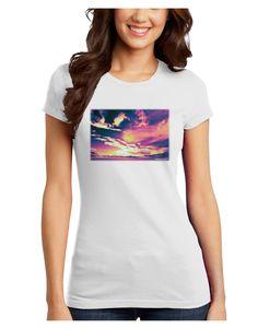 TooLoud Blue Mesa Reservoir Surreal Juniors Petite T-Shirt