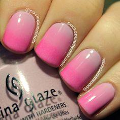 PackAPunchPolish: Pink Gradient Nail Art