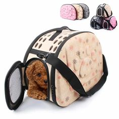 7 Stylish Dog Carriers For Puppies- Puppieslove.net Small Pet Carrier, Puppy Carrier, Pet Travel Carrier, Pet Carrier Bag, Pet Online, Portable Dog Kennels, Eva Material, Pet Car Seat, Pet Bag