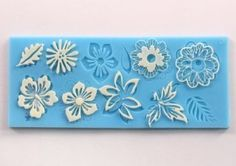 Buy Allforhome Silicone Flower leaf Embossing Lace Fondant Mould ...