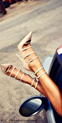 Strappy Nude Pump