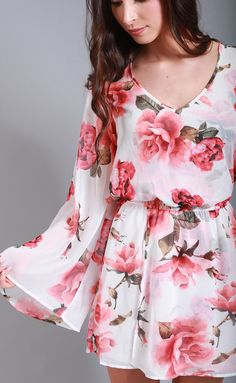 show me your mumu: runaway mini dress - romuntic rose