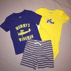 BOYS 12 MONTHS CARTERS 3 PIECE SET DINOSAUR OUTFIT SHORTS SHIRT NWT