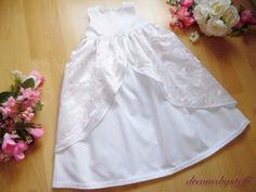 dreamsbysteffi ® - Edles Taufkleid mit Überrock bestickt rosa