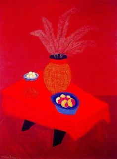 Milton Avery, Orange Vase on ArtStack #milton-avery #art
