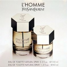 YSL Yves Saint Laurent L'Homme Gift Set for Men (3.3 OZ EDT Spray, 1.3 OZ EDT SPRAY) by Yves Saint Laurent. $89.99. YSL Yves Saint Laurent L'Homme Gift Set for Men (3.3 OZ EDT Spray, 1.3 OZ EDT SPRAY):  MADE IN FRANCE.  L'Homme YSL, the new fragrance for Men by Yves Saint Laurent. The force of attraction of a man with style and sensuality. A unique combination of luxury, art and modernity for a timeless elegance. A fresh, woody fragrance playing on contrasts. A bright and...