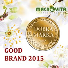 "The brand of MACROVITA cosmetics has received the title of ""GOOD BRAND 2015 - Quality, Trust, Reputation"" in the category of natural cosmetics with olive oil.  This prestigious award is given to the most developmental and most recognizable brands present on the market. This award is a confirmation of the status of the brand as a leader in the industry, confirms the highest quality of cosmetics, and also testifies to the confidence of customers and brand reputation."