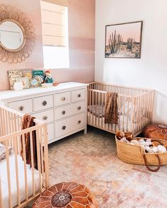 We were over on stories today talking about our ROOM DECOR sale and how it isn't one to miss. Because wallpaper is included! 👏🏻 TAP to shop this newly added mural - we are crushing hard on your nursery Twin Baby Rooms, Baby Bedroom, Baby Room Decor, Twin Room, Twin Nurseries, Baby Cribs, Kids Bedroom, Bedroom Ideas, Nursery Twins