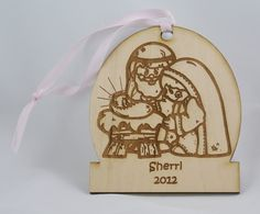 Bsatsolutions at etsy- laser cut Christmas ornament
