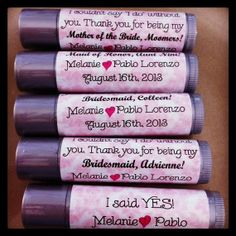 I couldn't say I DO without you. Bridesmaid gifts. Wedding Favors. Thank You Gifts. Personalized lip balm. 22 Scents. Bridal Party. Wedding.