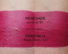 Smashbox Black Cherry = Renegade Revolver #dupe