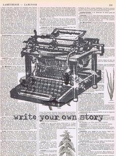 Vintage Typewriterwrite your own by studioflowerpower on Etsy