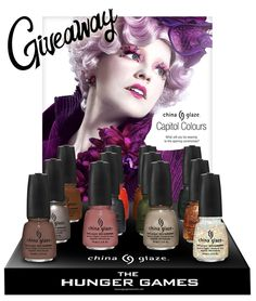 I'm giving away two sets of the China Glaze Capitol Colours. Don't miss your chance to win
