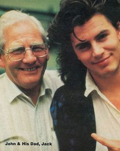 I'm a huge Duran Duran fan. I think I had a crush on every member of the band at one time or another. This is John Taylor and his dad. I never saw this picture before.