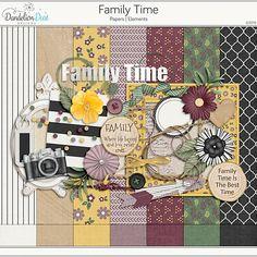 Family Time Digital Scrapbook Kit by Dandelion Dust Designs Green Paper, Scrapbook Kit, Green Cream, Family Traditions, Purple Gold, Word Art, Postage Stamps, Black Stripes, Digital Scrapbooking