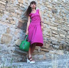 #dress #fuxia #bag #fashion #lifestyle #streetstyle #glamour #lingdress
