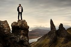 Danny surveys his stage on Skye island in Scotland