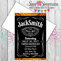 Jack Daniels Invitations