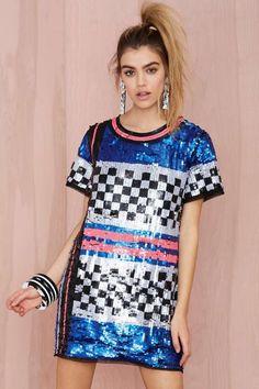 Nasty Gal Space Oddity Sequin Dress - Shift | Going Out | Dresses |  |  | Dresses | Dresses | Sale on Sale