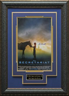 Secretariat Movie Poster Signed by Ron Turcotte Display