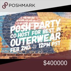 Posh party with me on 2/4/18! 2/4 @12PM PST / 2PM CST / 3PM ET  Theme will be Best in Outerwear! Please tag PFFs and share this listing. ❤ Share 3 or less related items from your closet to my dressing room for HP consideration (Posh-compliant closets only please)  Let me know if you've never had a host pick before! Jackets & Coats