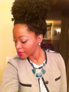 High puff with crochet braids/ natural hair protective style/ Instagram @msnaturallymary  Subscribe to my channel on YouTube ☺️