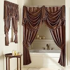 Love the double shower curtain idea!