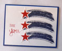 Thank You Card Patriotic Thank You Thanks So by TwoYellowDaisies