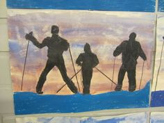 Kässä ja kuvis: Hiihtäjät aamuhämärässä Painting, Historia, Photo Illustration, Painting Art, Paintings, Painted Canvas, Drawings
