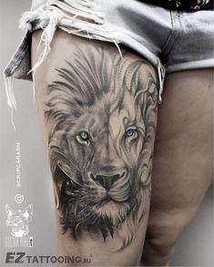 122 отметок «Нравится», 2 комментариев — GIENA RЖёt (@gienarjet_tattoo) в Instagram: «Царь Зверей ⚠От Мастера Станислава Скрипкараша  Лев[1] (лат. Panthera leo) — вид хищных…»